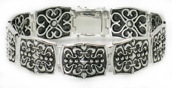 Solid 925 Sterling Silver Magnetic Bracelet - Style 05
