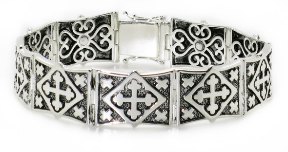 Solid 925 Sterling Silver Magnetic Bracelet - Style 06