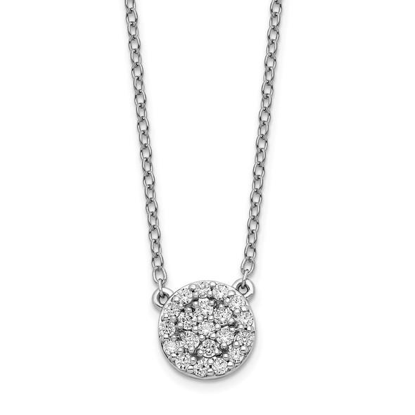 14k White Gold Diamond 18in Necklace PM8561-021-WA