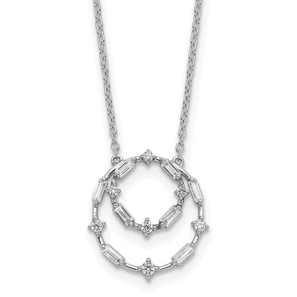 14k White Gold Diamond 18in Necklace PM8562-033-WA