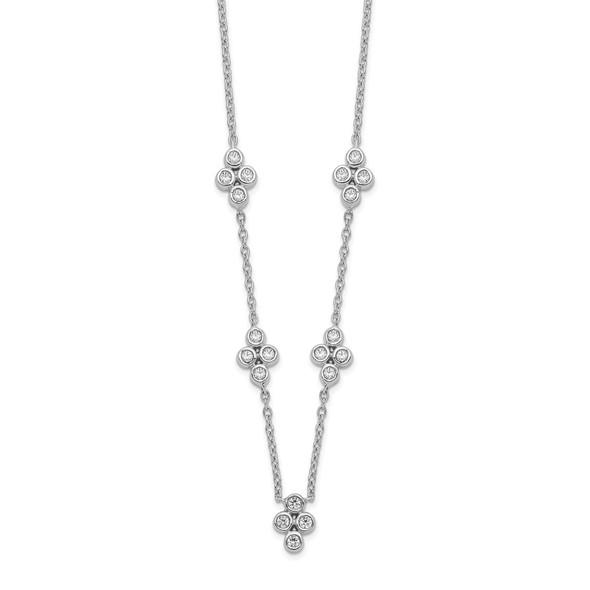 14k White Gold 5-station Diamond 18in Necklace PM8564-025-WA