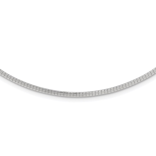 Sterling Silver 2mm w/2 in Ext Cubetto Chain Necklace