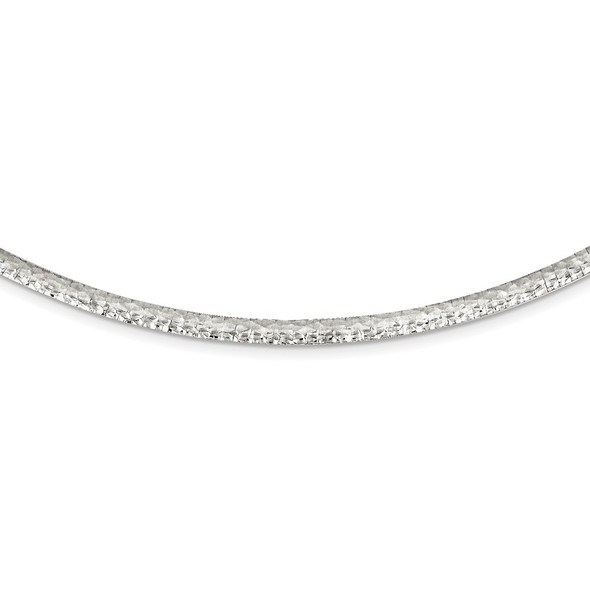 Sterling Silver 4mm Hammered Neckwire Necklace