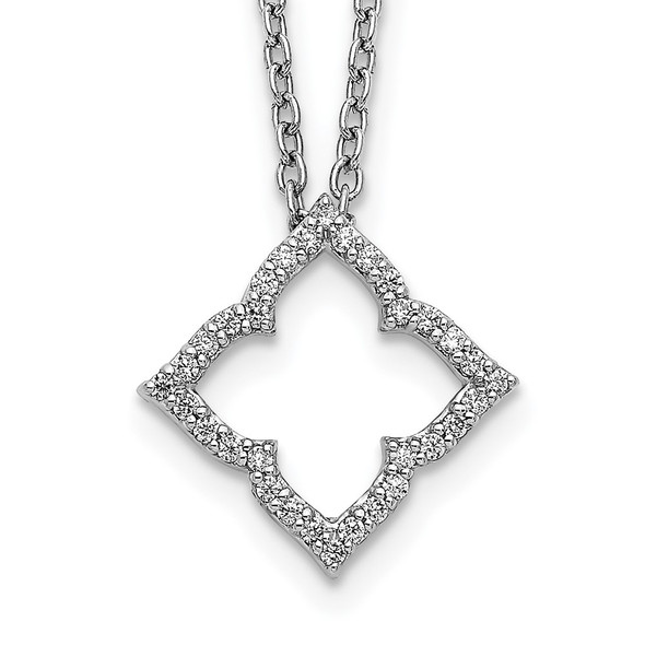 14k White Gold Diamond 18 inch Necklace PM3788-015-WA