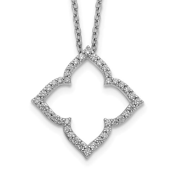 14k White Gold Diamond 18 inch Necklace PM3788-025-WA