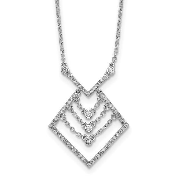 14k White Gold Diamond 18in Necklace PM8560-025-WA