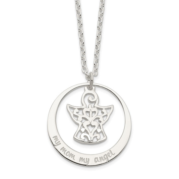Sterling Silver My Mom My Angel Necklace