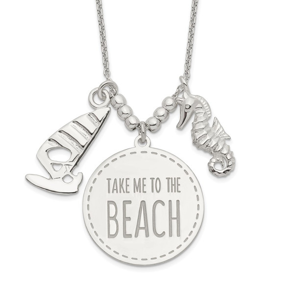 Sterling Silver Take Me to the Beach Necklace