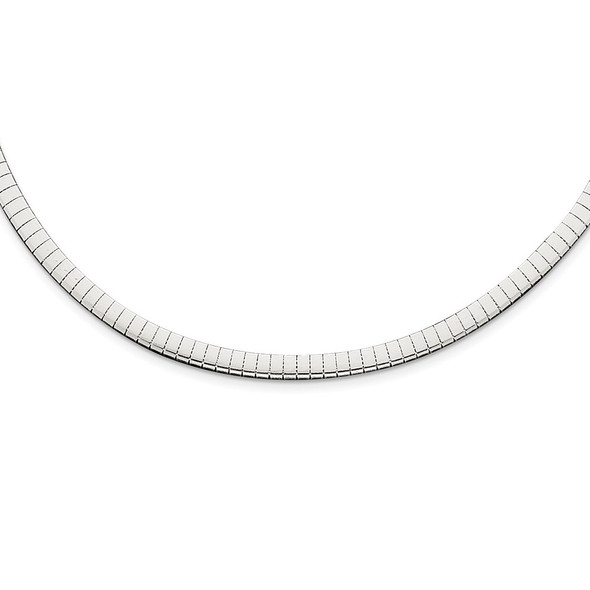 Sterling Silver 4mm Cubetto Necklace QU4-16