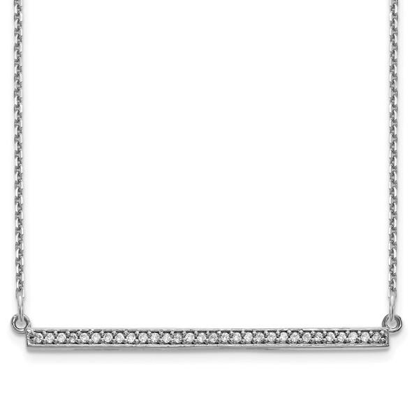 14k White Gold Diamond Bar Necklace XP5031WA