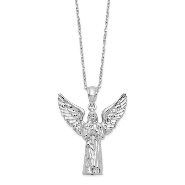 Sterling Silver Angel Ash Holder 18in Necklace QC9744-18