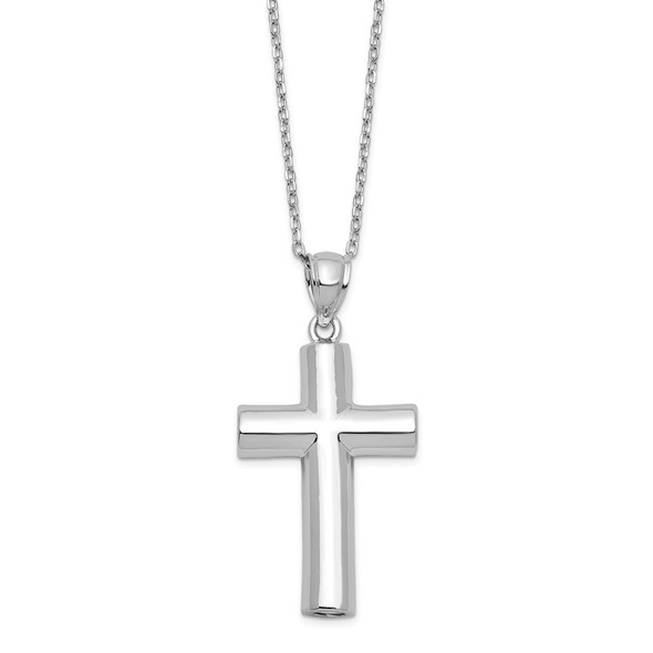 Sterling Silver Cross Ash Holder 18in Necklace