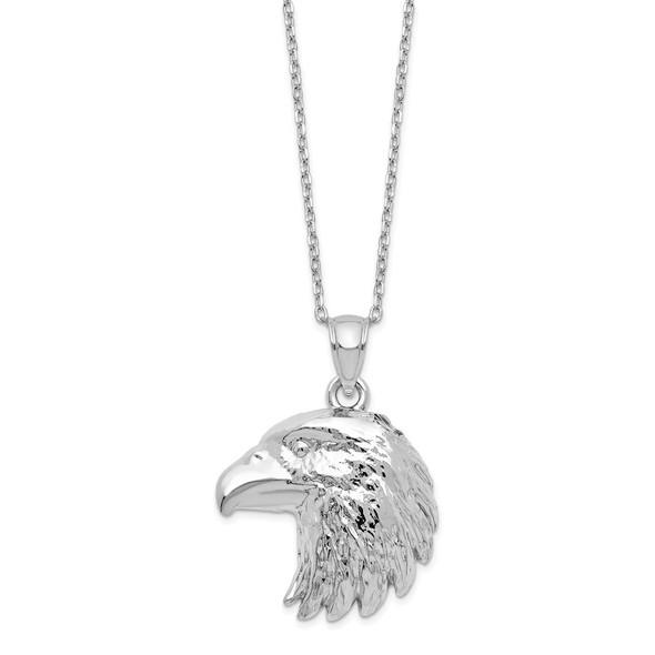 Sterling Silver Eagle Ash Holder 18in Necklace