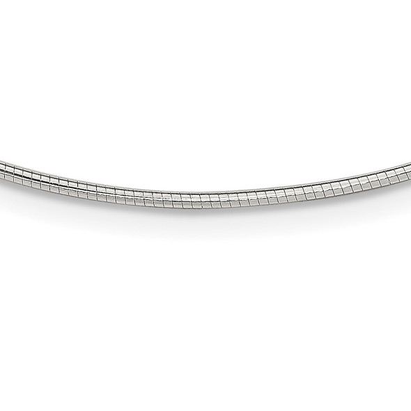 Sterling Silver 1.6mm w/ 2in extender Neckwire Chain Necklace