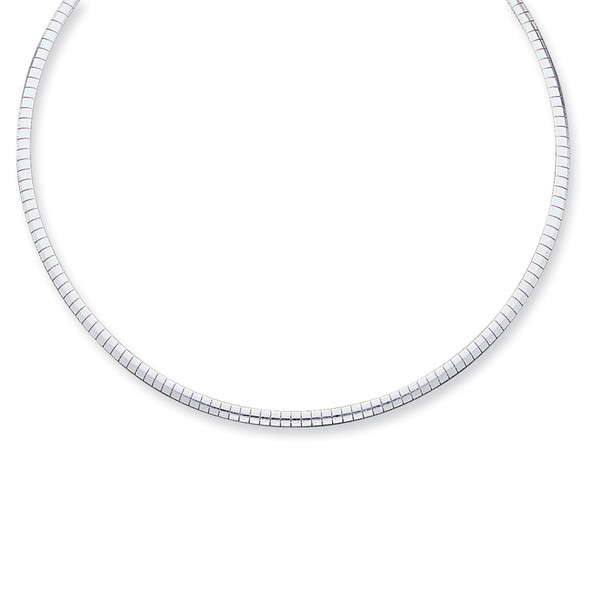 Sterling Silver 3mm Cubetto Necklace QU3-16