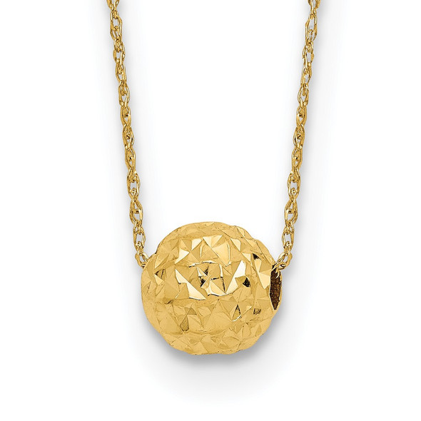 14k Yellow Gold Bead Necklace