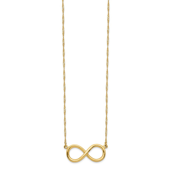 14k Yellow Gold Polished Infinity Necklace