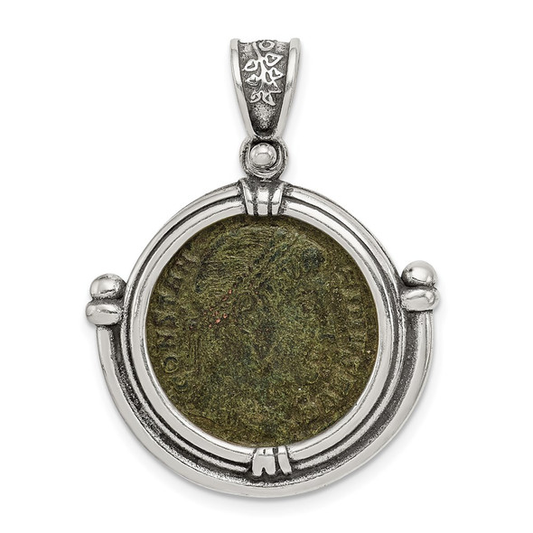 Sterling Silver Antiqued Constantine Coin Pendant