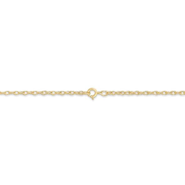 "16"" 14k Yellow Gold 1.35mm Carded Cable Rope Chain Necklace"