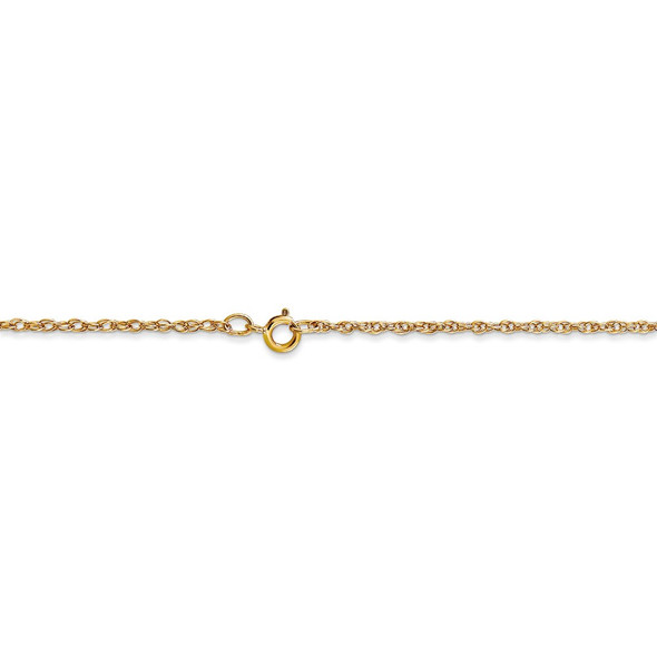 """16"""" 14k Yellow Gold 1.15mm Carded Cable Rope Chain Necklace"""