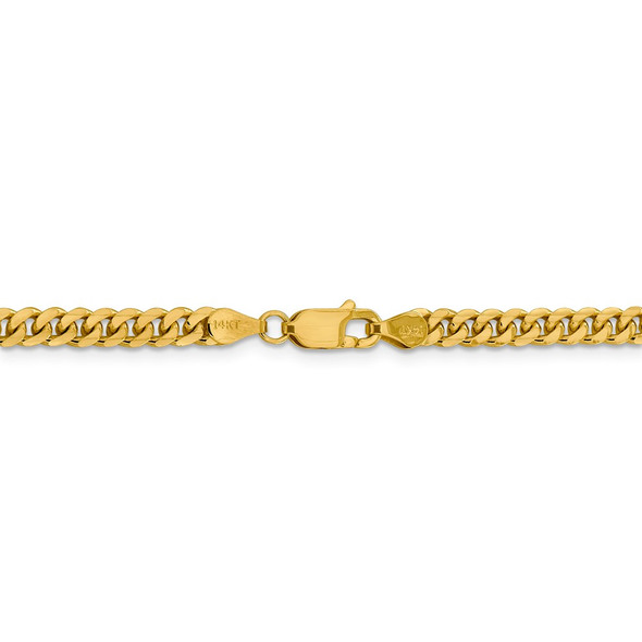 "18"" 14k Yellow Gold 4.25mm Solid Miami Cuban Chain Necklace"