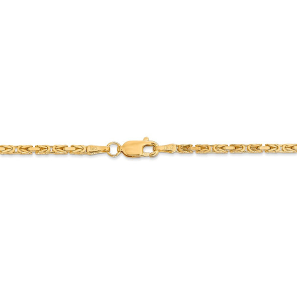 "16"" 14k Yellow Gold 2mm Byzantine Chain Necklace"