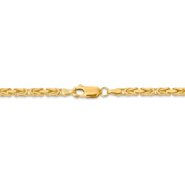 "16"" 14k Yellow Gold 2.5mm Byzantine Chain Necklace"