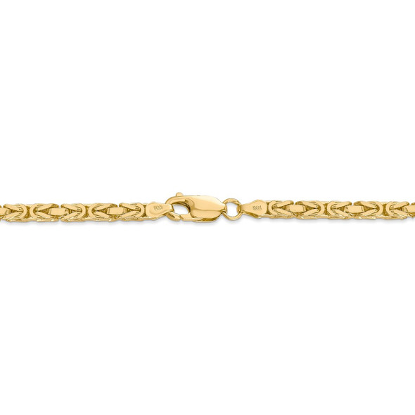 "18"" 14k Yellow Gold 3.25mm Byzantine Chain Necklace"