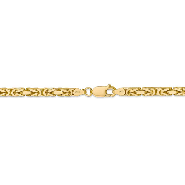 "18"" 14k Yellow Gold 4mm Byzantine Chain Necklace"