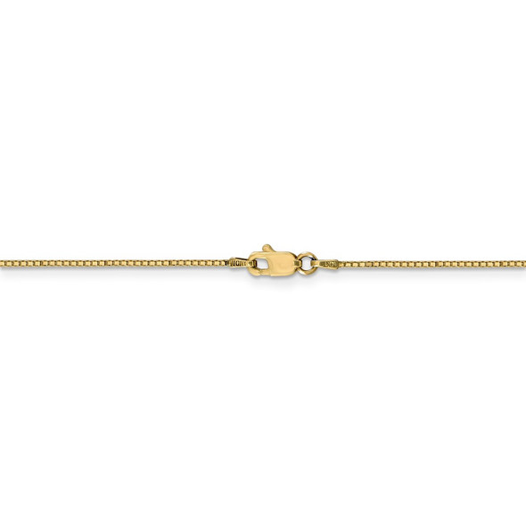 """14"""" 14k Yellow Gold .9mm Box with Lobster Clasp Chain Necklace"""