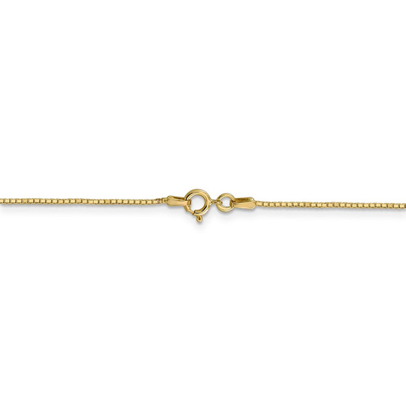 """14"""" 14k Yellow Gold .9mm Box with Spring Ring Clasp Chain Necklace"""