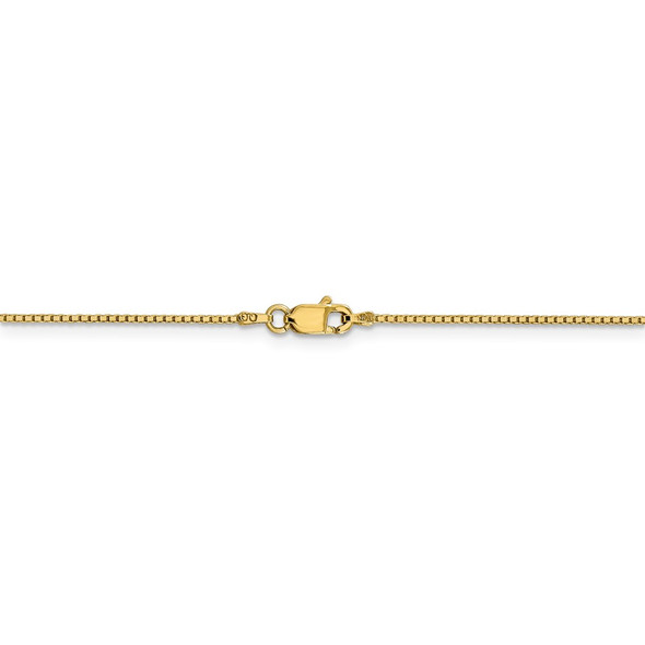"""18"""" 14k Yellow Gold .95mm Box Chain Necklace"""