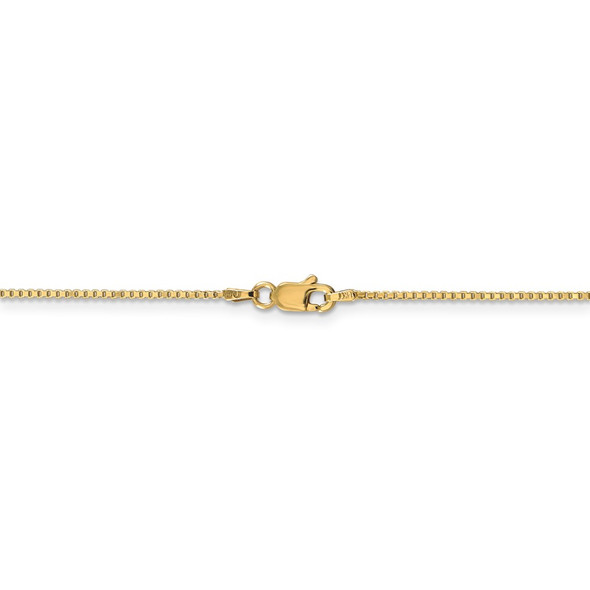 """14"""" 14k Yellow Gold 1mm Box Chain Necklace"""