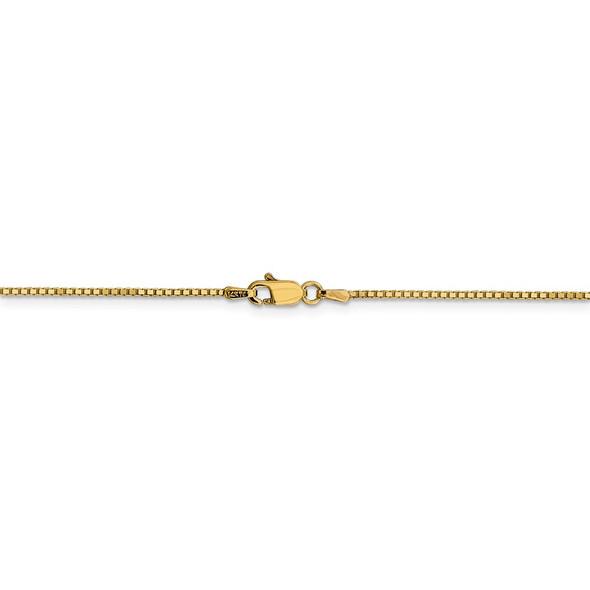 """16"""" 14k Yellow Gold 1.05mm Box Chain Necklace"""