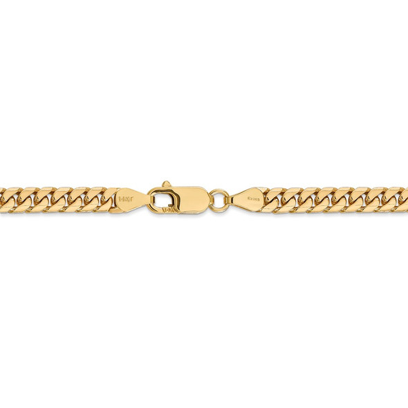 """18"""" 14k Yellow Gold 5mm Solid Miami Cuban Chain Necklace"""
