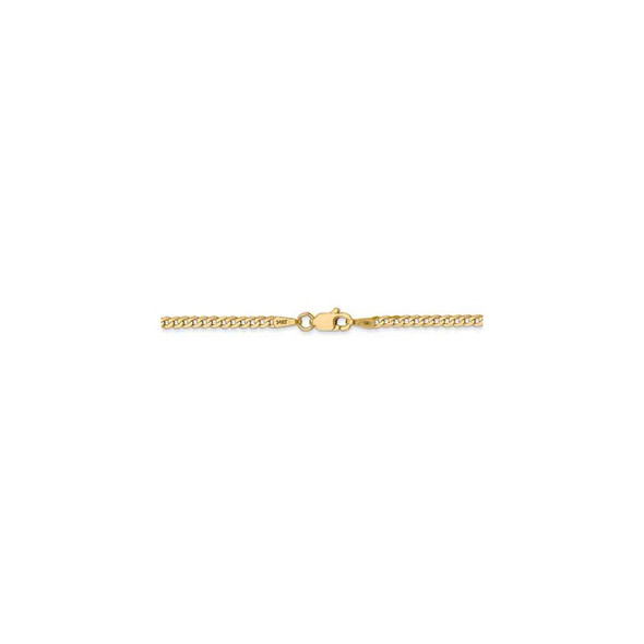 "16"" 14k Yellow Gold 2.2mm Flat Beveled Curb Chain Necklace"