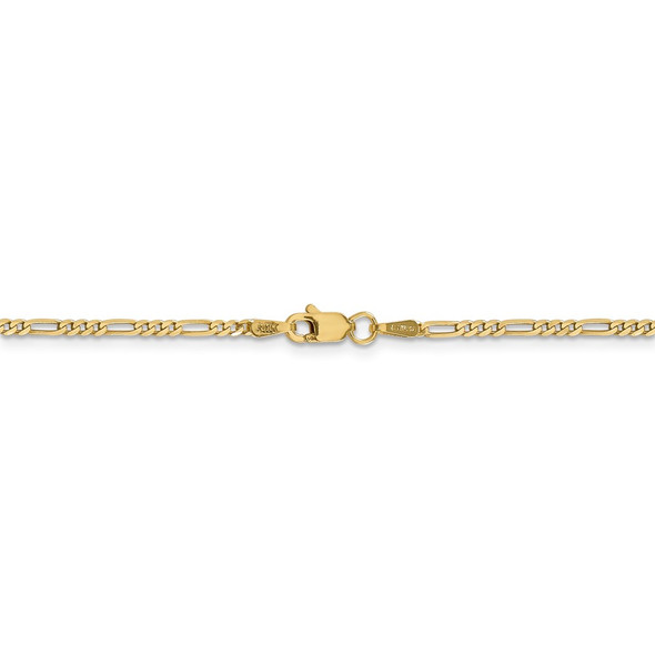 """16"""" 14k Yellow Gold 1.8mm Flat Figaro Chain Necklace"""