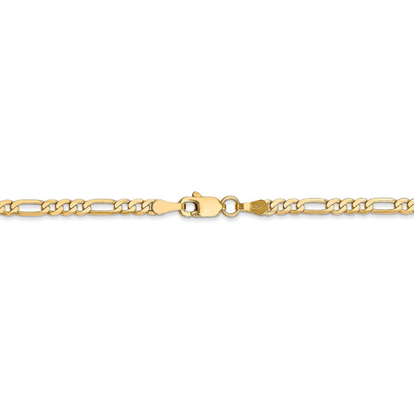 """16"""" 14k Yellow Gold 2.75mm Flat Figaro Chain Necklace"""