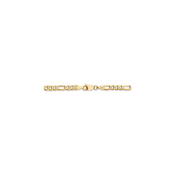 """20"""" 14k Yellow Gold 4mm Flat Figaro Chain Necklace"""
