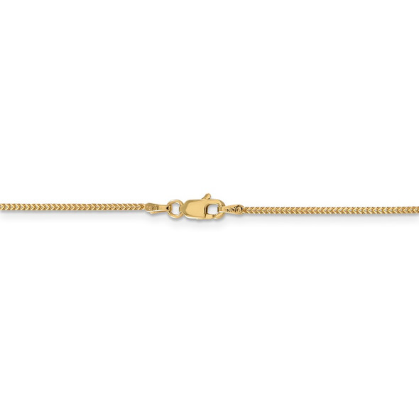 """16"""" 14k Yellow Gold .9mm Franco Chain Necklace"""