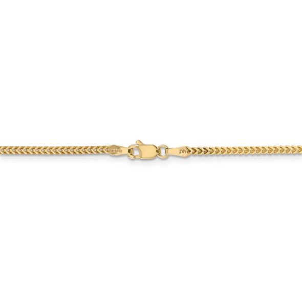 """16"""" 14k Yellow Gold 1.5mm Franco Chain Necklace"""