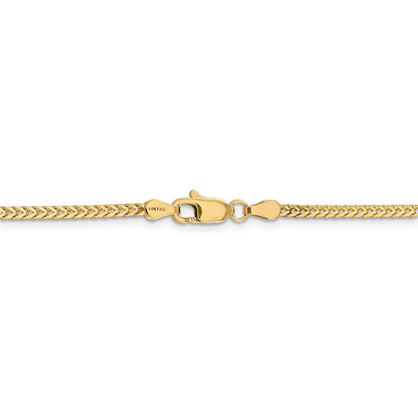 """16"""" 14k Yellow Gold 2mm Franco Chain Necklace"""