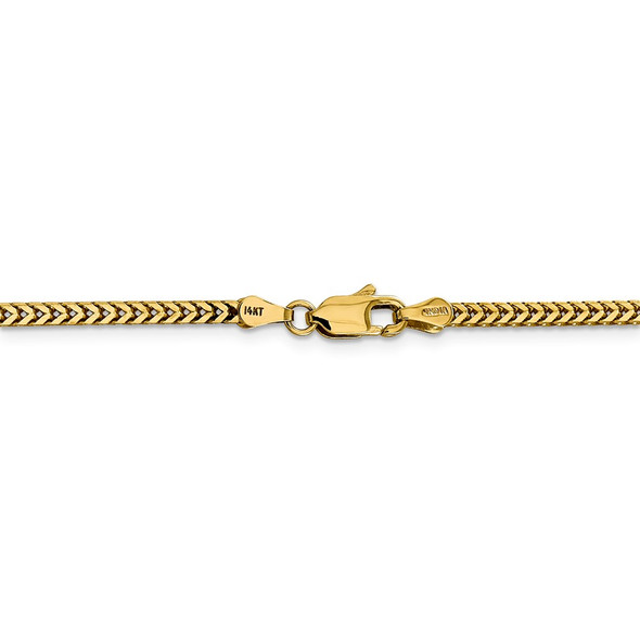 """16"""" 14k Yellow Gold 2.3mm Franco Chain Necklace"""