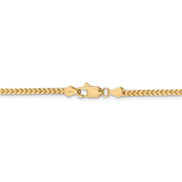 """16"""" 14k Yellow Gold 2.5mm Franco Chain Necklace"""