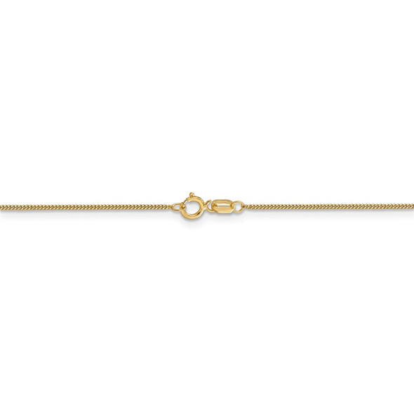 "16"" 14k Yellow Gold .9mm Curb Pendant Chain Necklace"