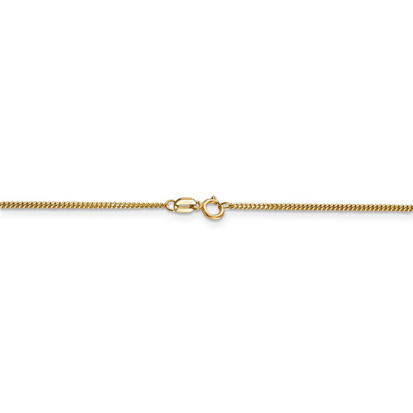 "16"" 14k Yellow Gold 1.3mm Curb Pendant Chain Necklace"