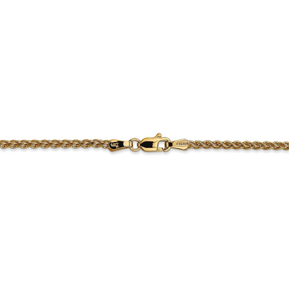 """14"""" 14k Yellow Gold 2mm Spiga Chain Necklace"""