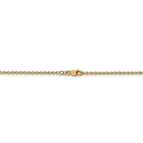 """10"""" 14k Yellow Gold 1.8mm Forzantine Cable Chain Anklet"""