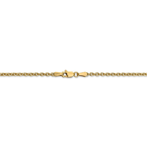 """10"""" 14k Yellow Gold 2.2mm Forzantine Cable Chain Anklet"""
