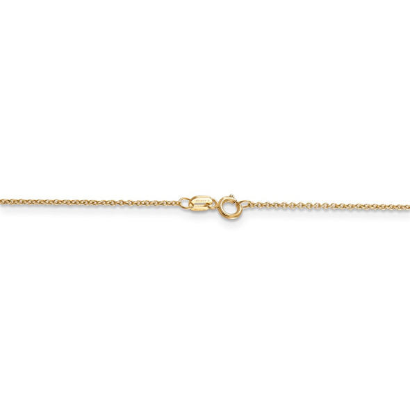 "14"" 14k Yellow Gold .9mm Cable with Spring Ring Clasp Chain Necklace"
